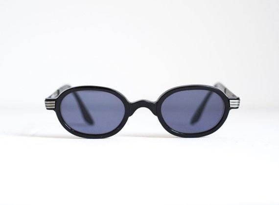 Glasses Frames Plastic Vs Metal : Versus Gianni Versace 1990s Modernist Black Brushed by ...