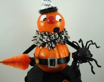 Scared Cute Pumpkin Man