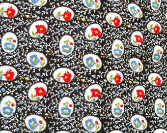 Vintage Floral Cotton Print 1 Yard