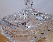 Vintage Leaded Crystal Covered Candy Dish
