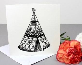 Tipi Greetings Card