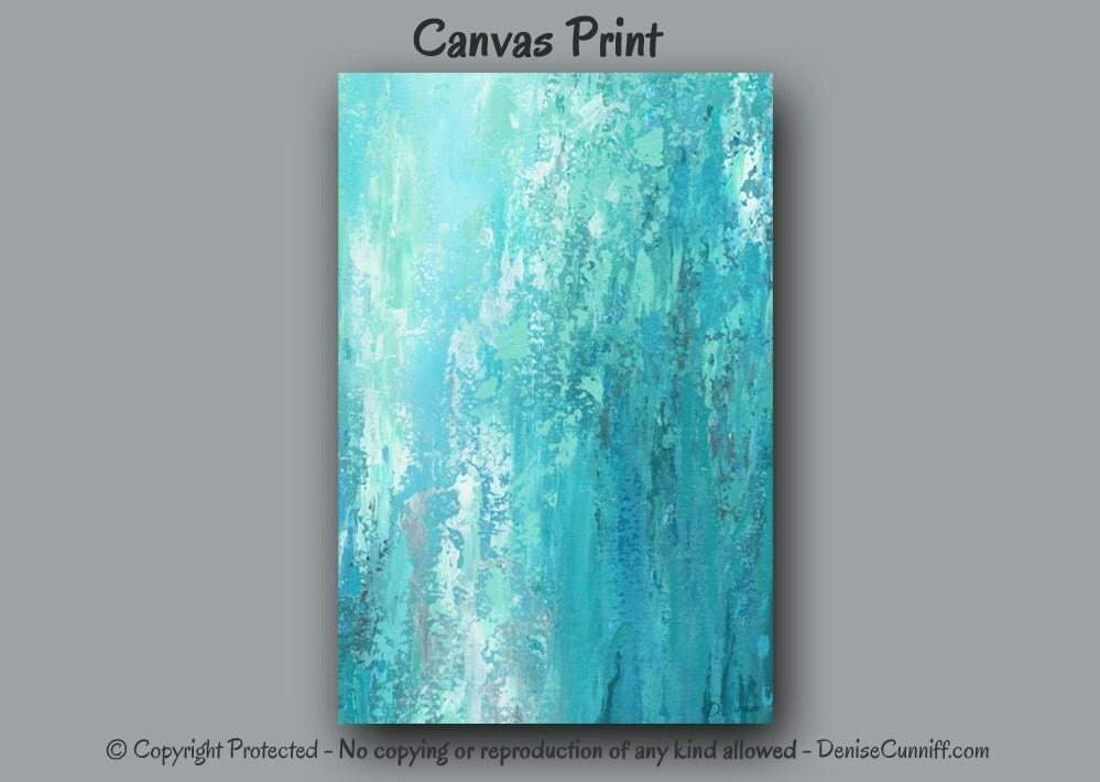 Turquoise Teal Wall Decor : Large wall art turquoise grey home decor teal bedroom