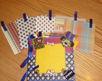 5x5 Dog Lovers Paper Bag Scrapbook using Blue bags