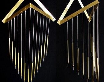 Double Vertex Wall Hanging || Geometric || Brass | Silver || Home Decor