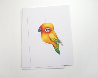 Sun Conure Print A5