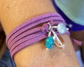 Eco ZEN Wrap - Triathlon Inspired - The Kaylin - Turquoise, Quartz, Aquamarine - Strength, Balance, Courage