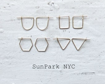Delicate Earring/Silver Earring/Gold Earring/Pin Earring/Small Hoop/Safety Pin Earring/Gold Stud/Geometric Earring/Staple Earring/Small pin