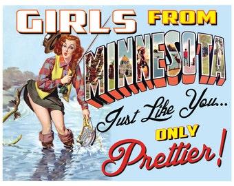 Minnesota Retro Pin Up Girl Girls From Minnesota print