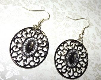Spanish Tiger Eyes Mosaic Earrings