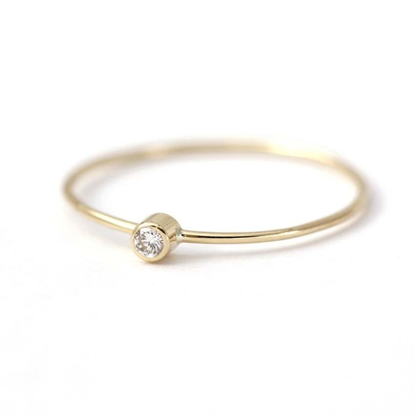 simple engagement ring baby ring 14k solid gold