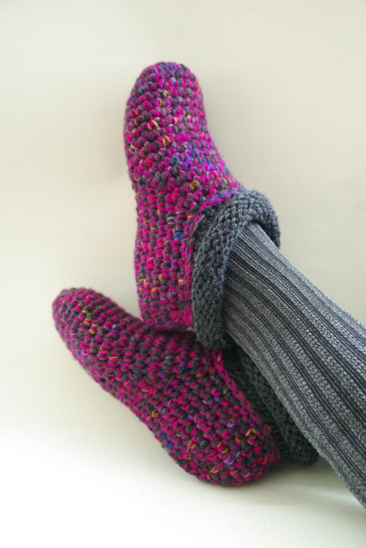 Crochet Slipper Socks Warm Wool Slippers Bed Socks Handmade