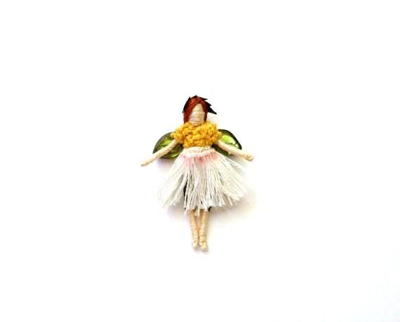 Miniature Daisy Fairy Doll