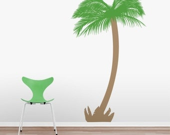 Feather Palm Tree - Vinyl Wall Decal