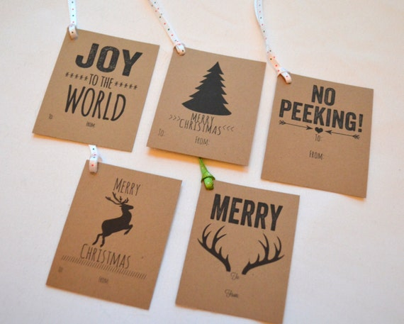 Kraft gift tags christmas by