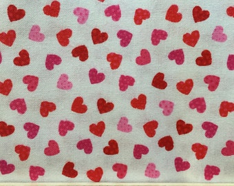 mini hearts red hearts 1 yard timeless treasures fabric red fabric