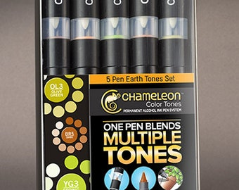 Chameleon Color Tones 5 pen Set - Earthtone - FREE SHIPPING - NEW! Limited Quantities available!