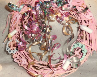 Baby It's You  Party Shower Centerpiece..... It's A Girl Wreath.....AA1