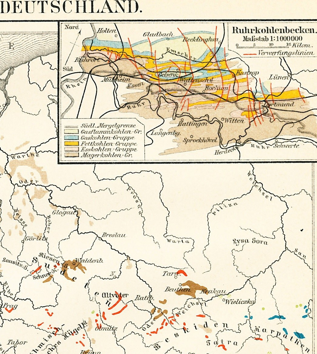 Coal Ore Map Mineral Deposits In Germany Map Mining In Germany - Germany map full