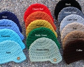 Crocheted Newsboy Style Visor Hat with Button  - Newborn to 4t - PICK YOUR OWN color, Baby Boy Hat, Boy Birthday, Photo Prop, Button Hat