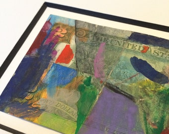 Original Gouache Painting on US Two-Dollar Bill by Jonathan Christie