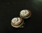 Antique Shell Cameo Earrings
