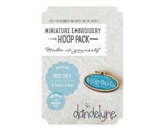 62mm x 34mm OVAL miniature embroidery hoop frame DIY pack - unique Dandelyne miniature hoop