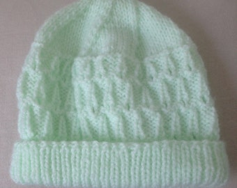Baby soft hat with turn back brim