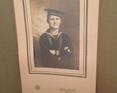 World War I Sailor Black & White Antique Photo Reserved for Todd
