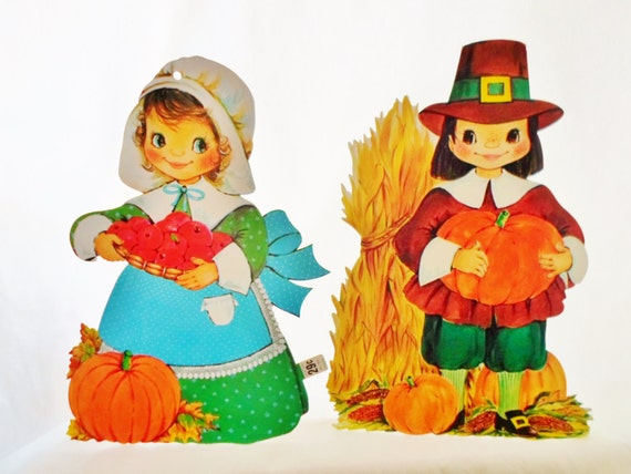 Decorating Ideas > Vintage Die Cut Thanksgiving Decorations By DebscountryVintage ~ 080207_Thanksgiving Vintage Decorations