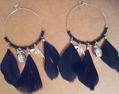 FREE SHIPPING - Large Hoop One of a Kind Earrings