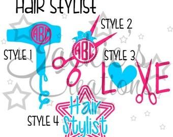 Hair Stylist Decals