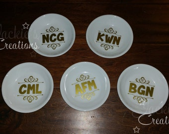 Monogrammed Wedding Ring/Jewelry Dish