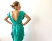 Kelly green bridesmaids short dress , Knee length bridesmaids gown