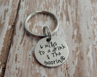 Hand Stamped Custom Key Chain / Hand Stamped Key Chain / Custom Key Chain