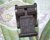 Cast Iron Lockbox Latch door strongbox Western era Old Wheat Motif