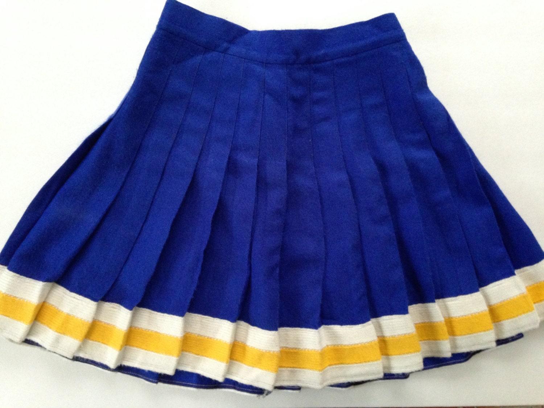 cheer skirt vintage cheerleading skirt pleated mini skirt