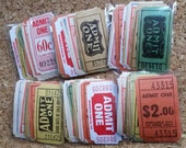 Vintage and Antique Admit One Ticket Collection   Assorted Lot   Inspiration Kit   Ephemera Pack