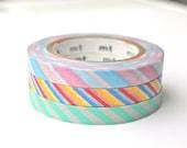Thin Washi Tape - Slim MT Stripes Washi Tape Set - Colorful Stripes Masking Tape Set - 10 meters