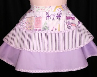 Three Tier Apron, Lilac Retro Apron