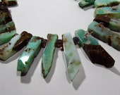 Chrysoprase Rectangle Chip Slices Graduating Beads 13mm - 50mm