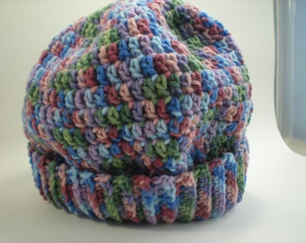 Multicolored Crocheted Stocking Hat