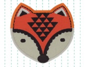 Iron on Patch Woodland Fox Applique - Embroidered patch