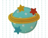 Planet Iron on Patch Applique - Embroidered stars