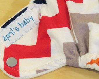 Newborn Fitted Cloth Diaper - Fits 6-12lbs, chevrons