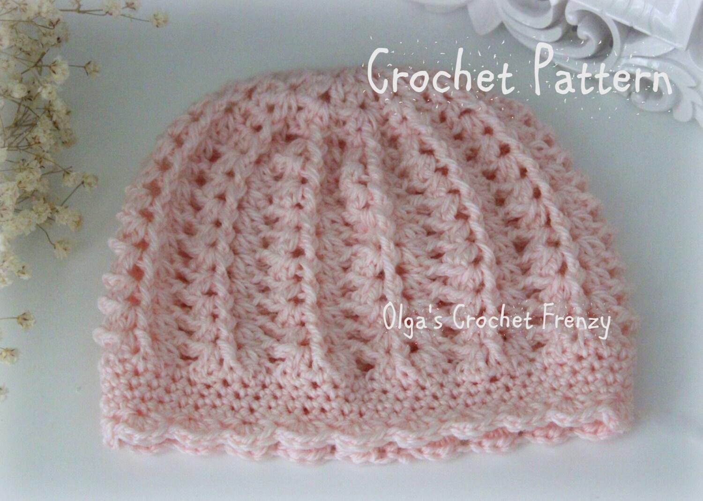 Crochet Baby Boy Gift Patterns : Pink Baby Hat Crochet Pattern Beginner Skill Level Size 3-6
