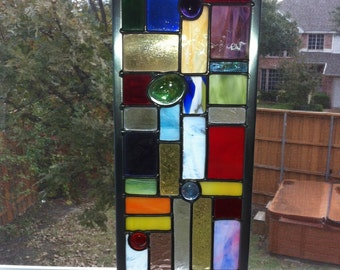 Stained Glass suncatcher .