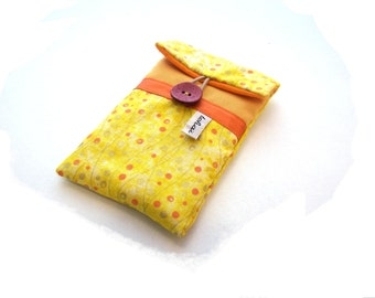 women's phone case yellow fabric,padded phone sleeve,iphone case