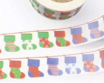 Colorful Christmas Stockings Washi Tape - 1013