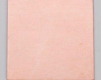 """Copper Blanks Square 1-1/6"""" 24ga Pkg Of 6"""
