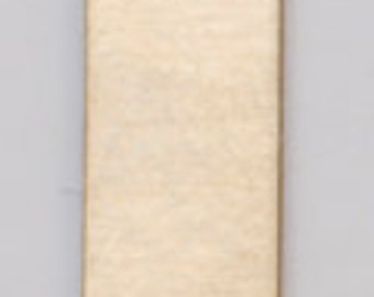 "Brass Blanks Rectangle Tag With Ring 11/16"" x 3/16"" 24ga Pkg Of 6"